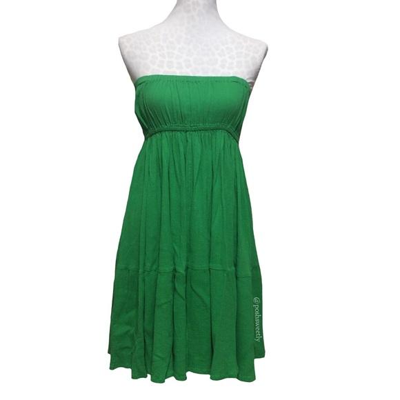 Zara Dresses | Kelly Green Strapless Flowy